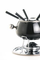 Where does one find a fondue set?