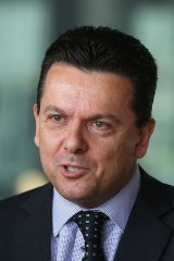 Snappy name: Nick Xenophon has set up the Nick Xenophon Team or NXT.