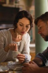 Hint of romance: Joshua Connor (Russell Crowe) meets young and beautiful widow Ayshe (Olga Kurylenko) in Istanbul.