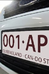 An impression of the proposed new number plate.