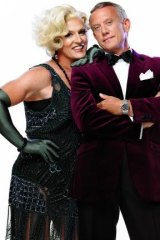 Change of pace: Simon Burke (right) and Todd McKenney in <i>La Cage Aux Folles</i>.