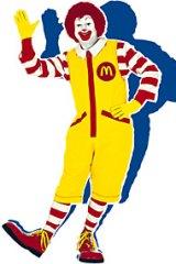 Time to go? Ronald McDonald.