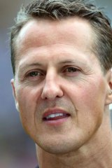 Former F1 world champion Michael Schumacher, hospitalised with a head injury, was approached by a man dressed as a priest.