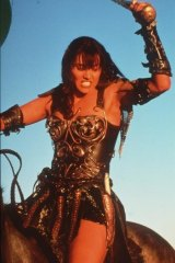 Still got it: Lucy Lawless in her iconic role as Xena Warrior Princess.