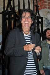 Shock rocker Alice Cooper toured Fremantle Prison on Friday night.