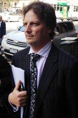 Richard Morgon leaves court today.