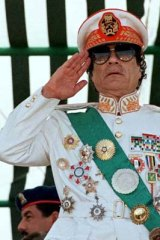 Over and out ... Muammar Gaddafi of Libya.