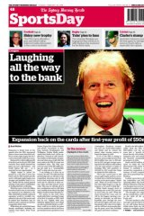 Cover of the Herald's SportsDay, Tuesday.