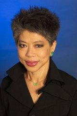 At the helm: Lee Lin Chin at the SBS newsdesk.