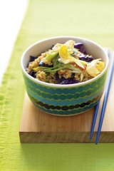 "Bright and beautiful … ""rainbow"" fried rice."