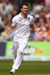 On a roll: England's James Anderson decimated the Australian tail.
