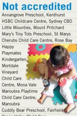 Unaccredited childcare centres