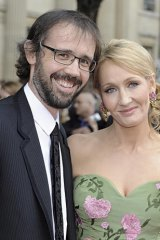 Talented couple ... Rowling with husband Neil Murray in July last year.