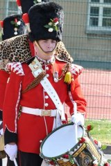 Loved his job: Drummer Lee Rigby in action.