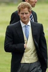 En route: Prince Harry.