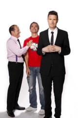 Brand of brothers ... (from left) Russel Howcroft, Todd Sampson and Wil Anderson return for <i>Gruen Planet</i>.