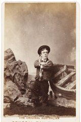 Sideshow Alley: The Australian Tom Thumb (John David Armstrong), c.1880 by Sarony & Co.