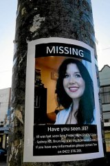 A sign on the coner of Hope St and Sydney Rd, Brunswick where Jill Meagher went missing on Saturday night.