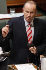Minister for Finance and Deregulation Lindsay Tanner in Parliament.