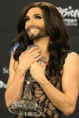 Conchita Wurst after winning Eurovision.