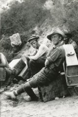 Men of the 6th Field Battery stop for a rest.