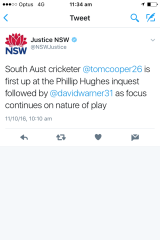 The tweet that was posted and deleted by Justice NSW.