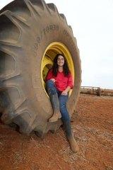 Wheel deal: Student Taneika Dalton, 18, at Hillston.