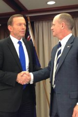 Tony Abbott and Campbell Newman meet in Brisbane.