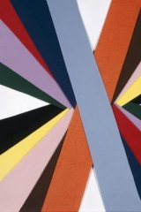 Anne Marie May, <i>Untitled</i>, (Construction of coloured rays) 1993 coloured felt. Part of The Kaleidoscopic Turn at NGV