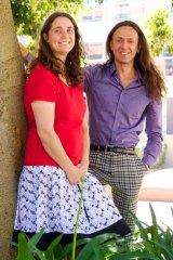Honoured: Associate Professor Angela Moles (left) and Associate Professor Andrea Morello on the UNSW campus.