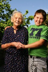 Theodora Tsantefski, aged 100, and 10-year-old Patrick Joyce will both celebrate Australia Day tomorrow.