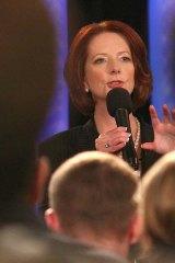 The Prime Minister Julia Gillard.