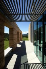 Soulful structure: The TarraWarra Art Gallery near Healesville was designed by architect Allan Powell.