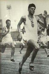 John Treloar competing in 1947.