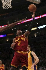Kyrie Irving goes up for a shot against the Los Angeles Lakers earlier this year.