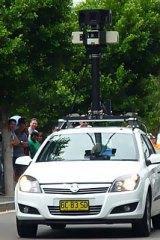 The Google Street View car.