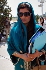 The newly appointed Pakistani foreign minister, Hina Rabbani Khar.