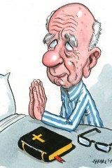 Praying for prophets &#8230; Rupert Murdoch's News Corp has high hopes for the Bible publisher it has bought. <em>Illustration: John Shakespeare</em>