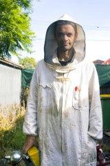 Amateur bee-keeper Lyndon Fenlon.