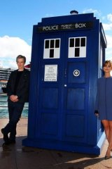 Doctor Who (Peter Capaldi) and companion Clara Oswald (Jenna Coleman) stopped off in Sydney on Tuesday to promote Series 8, which airs August 24.