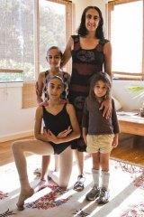Stephanie Cunio with her three children.