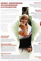 The controversial advert featuring Kerry Armstrong.