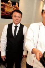 Yang Qian and chef Baorong Lu.