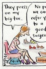 Wrong size feet.