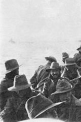 The 1st Divisional Signal Company at Anzac Cove on the day of landing.
