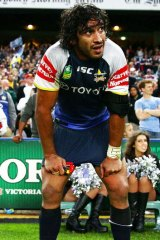 Disbelief: A dejected Johnathan Thurston after the NRL Elimination Final between the Sharks and the Cowboys.