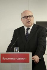 Favouring the taxpayer: George Brandis.
