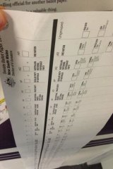 Senate ballot paper at 2013 election booths.
