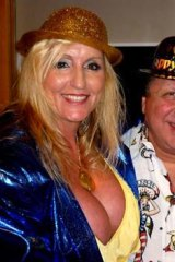 The PI and his fiancee: Frank Monte and escort service boss Sharon Sargeant.