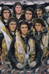 Stella Bowen, Bomber crew, 1944, oil on canvas.
